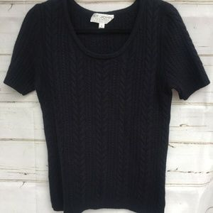 St. John Cashmere By Marie Gray Size M Short Sleev